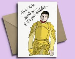 of thrones birthday card jaime lannister of thrones personalised birthday card ebay