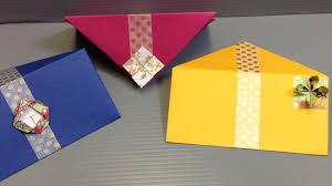 how to make envelopes how to make beautiful origami flower envelopes youtube