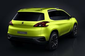 peugeot 2008 crossover peugeot 2008 concept crossover model to rival nissan juke