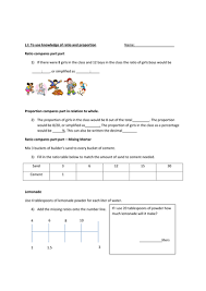 ratio and proportion for ks2 by sahara 06 teaching resources tes