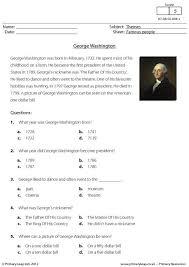 primaryleap co uk comprehension george washington worksheet
