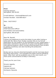 Business Letter Format Attachment by 5 Sample Of Business Letter With Enclosures Farmer Resume