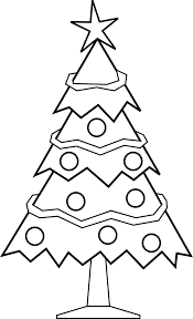 free printable christmas tree coloring pages for kids 9 pics