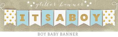 baby shower banners it s a boy banner glitter baby shower banner decorations