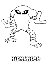 hitmonlee coloring page source 5km jpg 749 1060 pokemon go