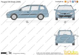 peugeot van 2000 the blueprints com vector drawing peugeot 206 break