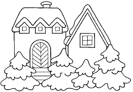 cartoon pictures houses kids coloring
