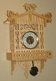 blueprints scroll saw wall clock plans