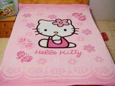 sprei bed cover bed cover kitty umbrella pink