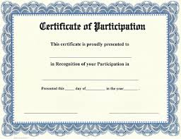 Sle Certificate Of Participation Template certificate of participation pertamini co