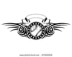 abstract vector illustration black white baseball stock vector