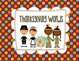 thanksgiving file folder word wall free all things november