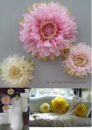 Pink And Yellow Birthday Decorations First Birthday Decorations Set Of 3 Giant Paper Flowers Pink