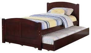 trundle bed black friday subtle curve cottage beadboard paneling cherry wood twin trundle