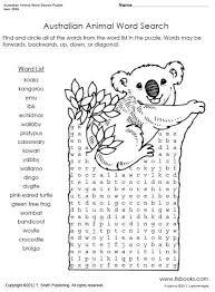 australian animal word search puzzle worksheet kirjatehnika