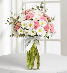 pink dream daisy and carnation arragement kc143526