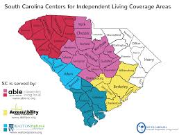Beaufort Sc Map Sc Centers For Independent Living South Carolina Statewide