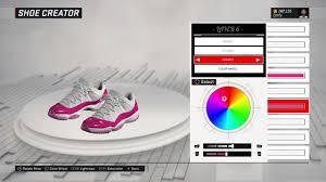 Pink Color Wheel by Nba 2k17 Shoe Creator Air Jordan 11 Low Custom