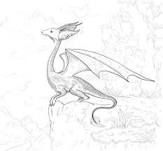 dragon coloring dragon contour coloring book stock