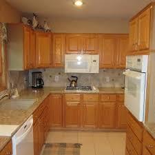 refinishing oak kitchen cabinets ideas oak cabinets to white enamel with glaze painterati