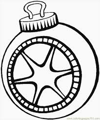 christmas tree ornaments coloring pages kids coloring