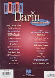 Dodd Darin by Bobby Darin Songbook Bobby Darin 0073999321272 Amazon Com Books