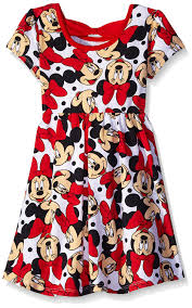 amazon com disney girls u0027 2 pack minnie mouse dresses clothing