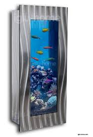 vertical wall mounted aquarium fish tank glass accessories