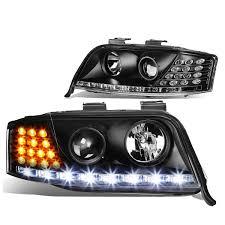 audi headlights 02 04 audi a6 halogen model led drl signal projector