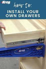 how to build base cabinets with kreg jig want to build your own drawers these handy guides make the