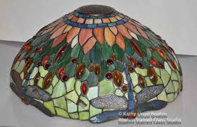 boehm stained glass blog dragonfly stained glass lamp repair