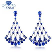aliexpress buy new arrival hight quality white gold lanmi new arrival luxury design solid 18k white gold blue