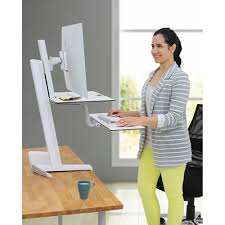 workfit s single with worksurface white height adjustable
