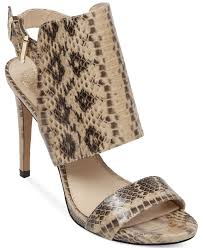 lyst vince camuto fandy sandals in brown