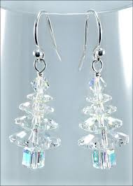 christmas earrings swarovski christmas tree earrings diy jewelry