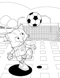 soccer coloring page handipoints
