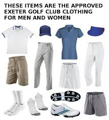 dress code exeter golf club