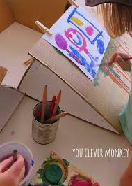 how to make a simple table top easel diy cardboard tabletop easels you clever monkey