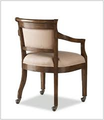 Upholstered Dining Room Chairs With Casters Chair Home
