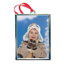 silver frame ornament with photo mailpix