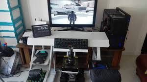 gaming desks ultimate gaming desk gorgeous 2 swordfish the ultimate pc desk