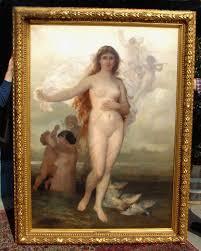 wilhelm kray antique oil painting venus aphrodite item 2218 for