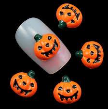 Halloween Nail Art Pumpkin - nail art 3d pumpkin nail art charms