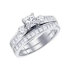 princess cut wedding set 2 carat princess cut diamond wedding set on closeout sale