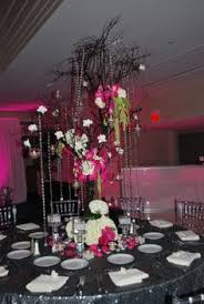 Black And Silver Centerpieces by Pink Black And White Wedding Centerpieces Pink And Black