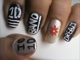 tutorial nail art one direction one direction nails easy 1d nail deisgns and nail art for beginners