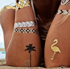 beach value bundle metallic temporary flash tattoos