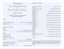 downloadable wedding program templates free printable wedding program templates best template exles