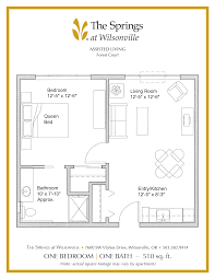 bathroom floorplans senior apartment floor plans the springs at wilsonville