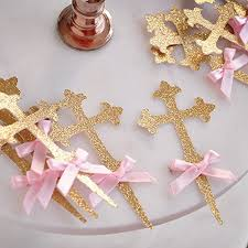 christening decorations christening decorations baptism cross cupcake toppers 12ct